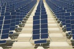 Painéis Photovoltaic Foto de Stock