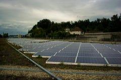 Painéis solares Fotos de Stock Royalty Free