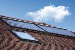 Painéis solares de câmara de ar de vácuo Fotografia de Stock Royalty Free