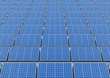 Painéis solares em um telhado Fotografia de Stock Royalty Free