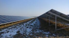 Painéis solares em um telhado Imagens de Stock