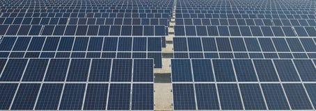 Painéis solares, energia renovável Foto de Stock