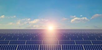 Painéis solares - fundo Fotos de Stock