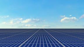 Painéis solares - fundo Foto de Stock Royalty Free