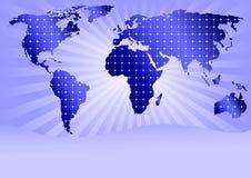 Painéis solares global (com espaço para o texto da amostra) ilustração stock