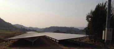 Painéis solares japoneses Imagens de Stock Royalty Free