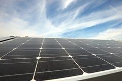 Painéis solares modernos Foto de Stock Royalty Free