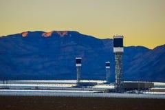 Painéis solares Nevada Imagens de Stock Royalty Free