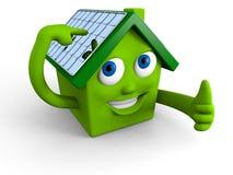 Painéis solares no telhado Fotos de Stock