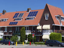 Painéis solares no telhado Fotografia de Stock
