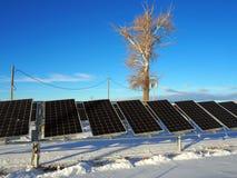 Painéis solares pequenos imagens de stock