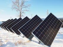 Painéis solares pequenos imagem de stock