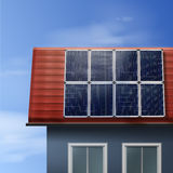 Painéis solares portáteis ilustração do vetor