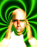 Pain 10. A image of a man in terrible expressive pain, possible having a migraine Royalty Free Stock Photography