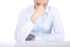 Pain. A studio shot of a man suffering Stock Photos