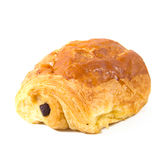 Pain au chocolat in a white background Royalty Free Stock Images