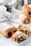 Pain au Chocolate & coffee Royalty Free Stock Photo