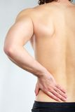 Pain in back Royalty Free Stock Photo