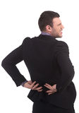 Pain in back. Royalty Free Stock Photos