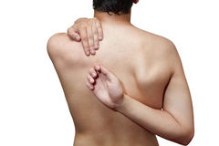 Pain in back Stock Image