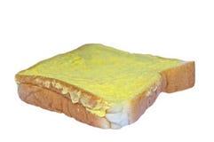 Pain blanc avec la margarine Photographie stock