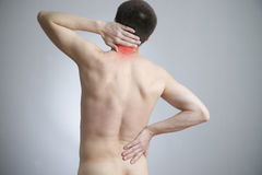 Pain in a body of the man Royalty Free Stock Photos