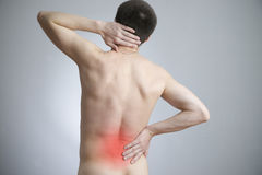 Pain in a body of the man Royalty Free Stock Image