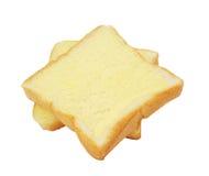 Pain carré avec du beurre Photographie stock