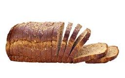 Pain coupé en tranches de blé entier Photo libre de droits