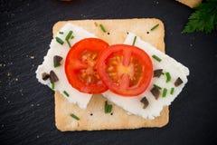 Pain croustillant avec le fromage Photos libres de droits