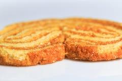 Pain croustillant de biscuit doux dans la fin  Photographie stock libre de droits