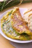 Pain cuit au four avec le légume Image libre de droits