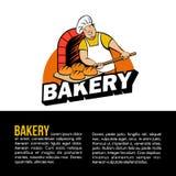 Pain cuit au four par Baker dans le four Pays de rappe de couleur de busines d'Internet de Web de course de planète de la terre d illustration stock