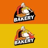 Pain cuit au four par Baker dans le four Pays de rappe de couleur de busines d'Internet de Web de course de planète de la terre d illustration libre de droits