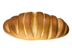 Pain délicieux frais, pain d'isolement sur le fond blanc Vue supérieure images libres de droits
