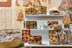 Pain d'épice au marché de Noël à Vilnius Photo libre de droits