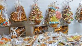 Pain d'épice au marché de Noël de Vilnius Images libres de droits