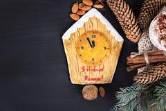 Pain d'épice de biscuits de Noël Photographie stock