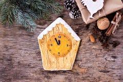 Pain d'épice de biscuits de Noël Photos libres de droits