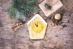 Pain d'épice de biscuits de Noël Images libres de droits