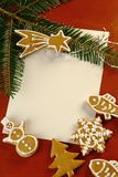 pain d'épice de Noël Images libres de droits