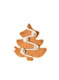 Pain d'épice fait maison décoré Image stock