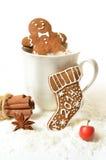 Pain d'épice fait maison de Noël 2014 sur un fond blanc Images stock