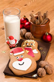 Pain d'épice Santa et ange Photographie stock libre de droits