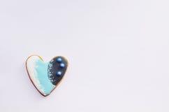 Pain d'épice sous forme de coeur Photo libre de droits