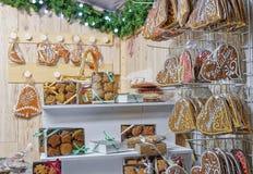 Pain d'épice sur le marché de Noël à Vilnius Photo libre de droits