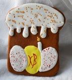 Pain d'épice sur Pâques Photographie stock libre de droits