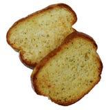 Pain d'ail avec du fromage dans la plaque photo stock