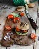 Pain d'hamburger et de blé entier Image stock