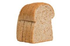 Pain de blé entier de tranche d'isolat Photographie stock